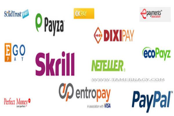 البنوك الالكترونية التى تدعم مصر